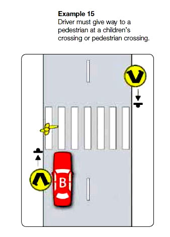 Marked foot crossings example