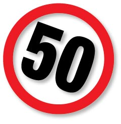 50km speed limit sign