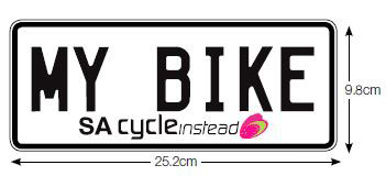 Bicycle rack number plate
