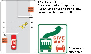 Giving way at Pedestrian Crossings and Children's Crossings